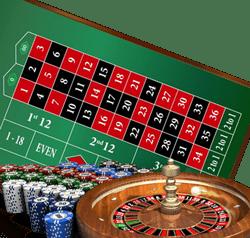 roulette avec table de jeu visible