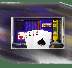 écran du jeu de video poker