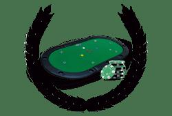 couronne de laurier avec table de poker et jetons